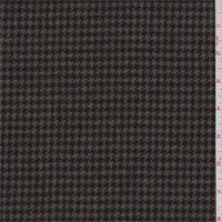 Brown/Black Houndstooth Wool Suiting