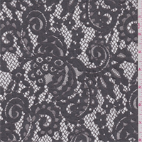 Titanium Grey Scroll Lace