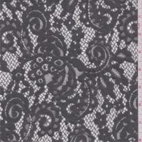 Titanium Grey Scroll Lace