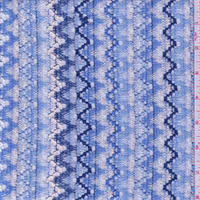 Blue/White Zig Zag Crochet Lace
