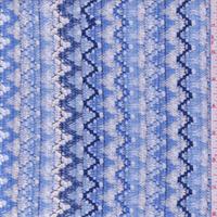 Blue/White Zig Zag Crochet Lace