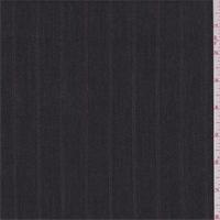 Dark Charcoal Stripe Suiting