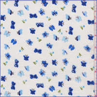 White/Blue Butterfly Flannel