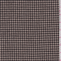 Dark Brown/Tan Houndstooth Wool Jacketing