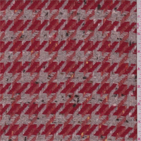 Tan/Red Houndstooth Wool Jacketing