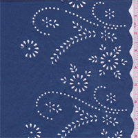 Coventry Blue Floral Laser Cut Knit