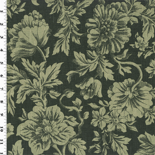 Sage Green Vintage Linen Printed Floral Home Decorating