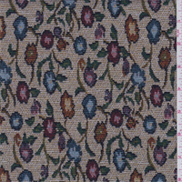 *2 YD PC--Beige Multi Floral Tapestry