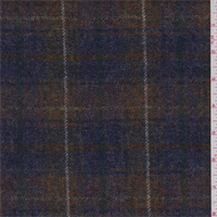 Purple/Gold Plaid Wool Tweed