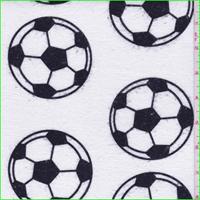 White/Black Soccer Ball Flannel