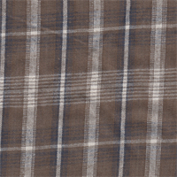 *3 1/4 YD PC--Brown Plaid Cotton Flannel