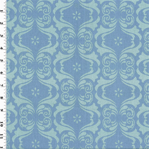 Designer Cotton Blue Capriani Print Home Decorating Fabric