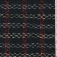 Green/Navy Multi Plaid Wool Jacketing