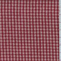 Blush/Red Check Wool Jacketing