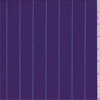 Purple/Silver Stripe Gabardine Wool Suiting