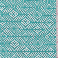 Turquoise Green Diamond Crochet Lace
