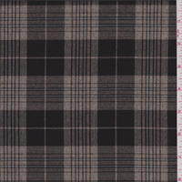 Walnut/Tan/Blue Plaid Polyester Suiting