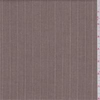 Brown Herringbone Stripe Polyester Suiting