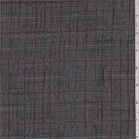 Black/Red Plaid Polyester Suiting