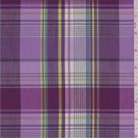 Lilac/Lime Plaid Shirting