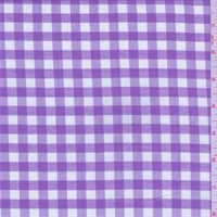 Lilac/White Check Cotton Shirting