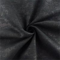 Midnight Black Foil Print Linen