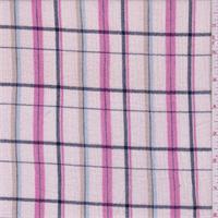 Pale Pink Check Cotton Gauze