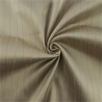 Sand Beige Pinstripe Stretch Sateen