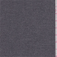 Mottled Charcoal Wool Flannel Suiting