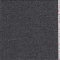 Heather Dark Grey Wool Flannel Suiting