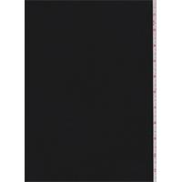 Black Wool Flannel Gabardine Suiting