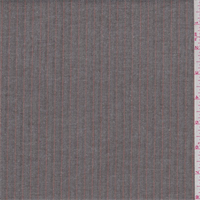 Taupe/Grey Herringbone Stripe Rayon Blend Suiting