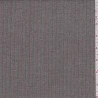 Taupe/Grey Herringbone Stripe Rayon Blend Suiting
