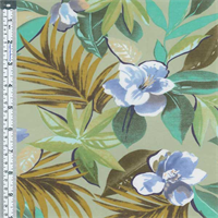 *3 YD PC--Sage Green Multi Tropical Floral Lawn