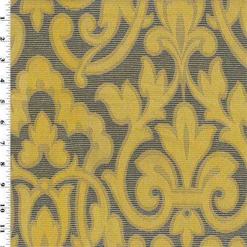 Yellow Black Jacquard Home Decorating Fabric Dfw51587 Fashion