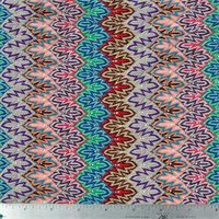 *1 YD PC--Multicolor Stripe Flame Stitch Knit