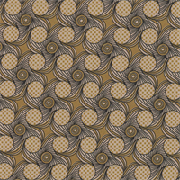 *4 1/8 YD PC--Gold/Black/Tan Swirl Print