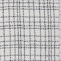 *2 1/2 YD PC--White/Black Check Boucle