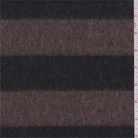 Brown/Black Stripe Wool Jacketing