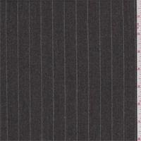 Taupe/Sage Pinstripe Wool Flannel