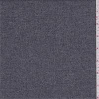 Dark Heather Grey Wool Flannel