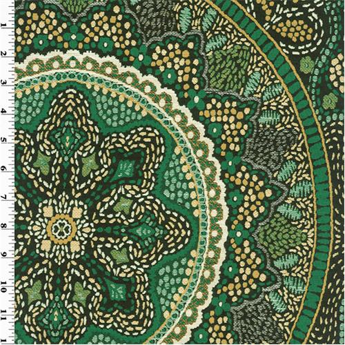 Designer Emerald Green Telega Home Decorating Fabric DFW40 Custom Designer Decorator Fabric