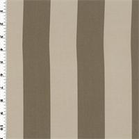 Designer Cocoa Maxim Stripe Performance  Decorating Fabric