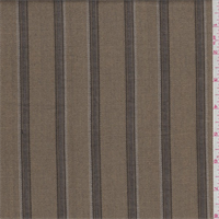 Golden Beige Twill Stripe Wool Suiting