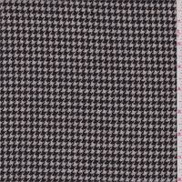 Black/Ecru Houndstooth Wool Jacketing