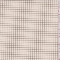 Cream/Tan Check Lightweight Wool Suiting