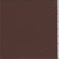 Rust Brown Wool Twill Flannel Suiting