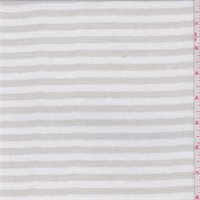 *3 5/8 YD PC--White/Sand Stripe Cotton Gauze
