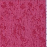 Crimson Red Floral Crepe Knit
