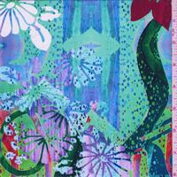 Green Multi Floral Splash Swimwear